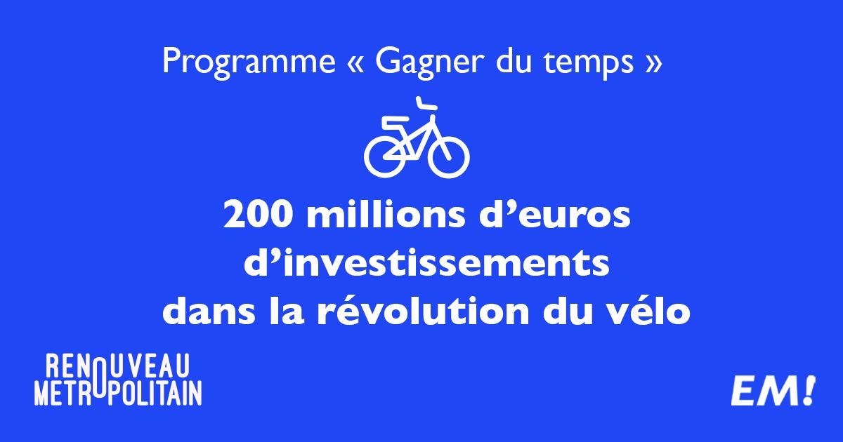 Thomas Cazenave 200 millions d'investissements vélo